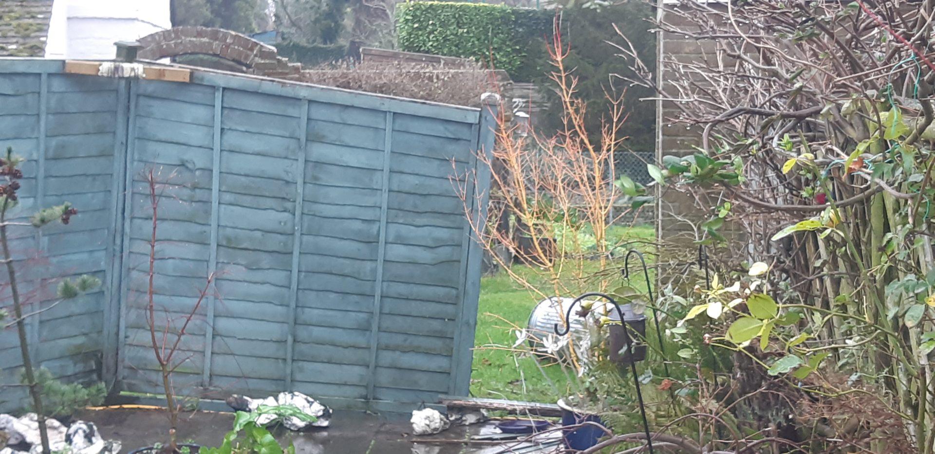 storm damage fence panels in deal kent